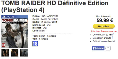 Tomb Raider chez Micromania
